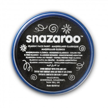 Snazaroo Classic Face Paint, 18-OZ or 18-ML, Black, 6 Fl