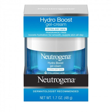 Neutrogena Hyaluronic Acid Hydrating Face Moisturizer Gel-Cream to Hydrate and Smooth Extra-Dry Skin, 1.7 Oz