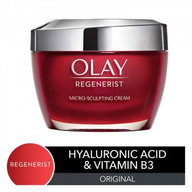 Olay Face Moisturizer with Collagen Peptides by Olay Regenerist, Micro-Sculpting Cream, 1.7 oz