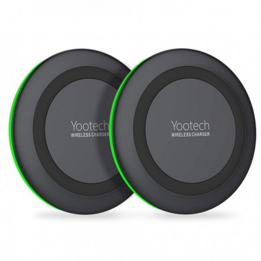 Yootech [2 Pack] Wireless Charger Qi-Certified 10W Max Wireless Charging Compatible with iPhone 11/11 Pro/11 Pro Max/Xs MAX/XR/XS/X/8 Plus, Galaxy Note 10/Note 10 Plus/S10/S10 Plus/S10E(No AC Adapter)