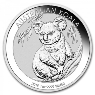 2019 AU Australian Koala Coin from the Perth Mint One Ounce .999 Fine Silver Dollar Uncirculated Mint