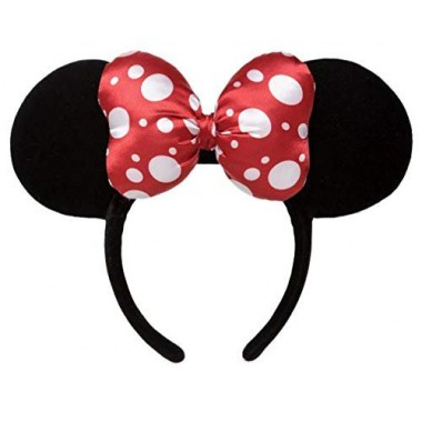 Disney Parks - Minnie Ears Headband - Satin Polka Dot Bow