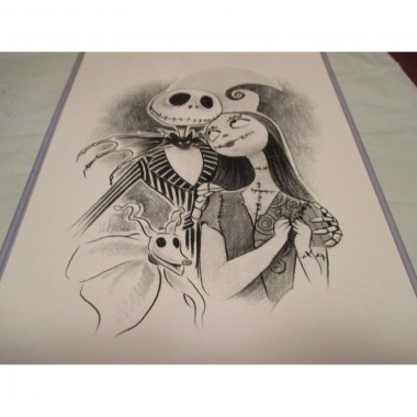 JACK AND SALLY THE NIGHTMARE BEFORE CHRISTMAS !! LIMITED EDITION PRINT 11