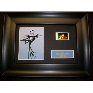 NIGHTMARE BEFORE CHRISTMAS JACK Framed Movie Film Cell Display Collectible Memorabilia Complements Poster Book Theater