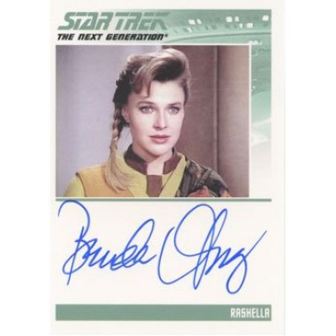 Star Trek TNG Heroes & Villains Autograph Card Brenda Strong as Rashella