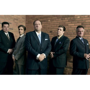 The Sopranos James Gandolfini & tough guy cast 24X36 Poster
