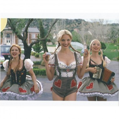 Charlie's Angels Lucy Liu, Cameron Diaz, Drew Barrymore wearing Lederhosen in blonde wigs - 8 x 10 Photo 004