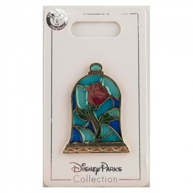 Disney Pin - Beauty and The Beast Stained Glass Rose