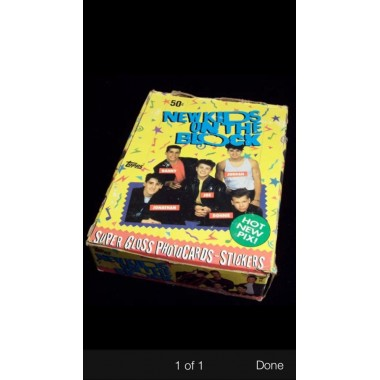 New Kids on the Block Trading Cards Unopened Box Nkotb 1989 (36) Unopened Packs Topps Non--sport
