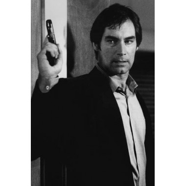 Timothy Dalton in The Living Daylights as James Bond holding Walther PPK 11x17 Mini Poster