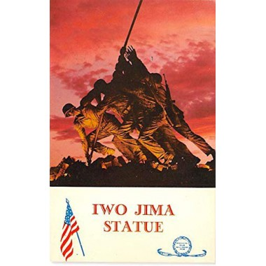 Military Post Card Old Vintage Antique Postcard Iwo Jima Statue, Marine Corps War Memorial, Arlington, VA Unused