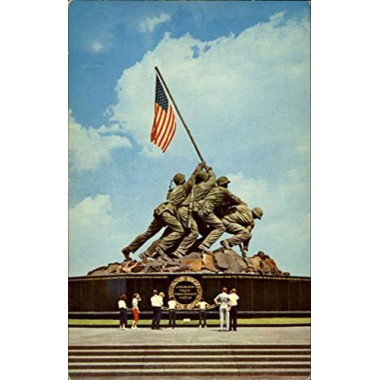 United States Marine Corps War Memorial Iwo Jima Statue Washington, District Of Columbia Original Vintage Postcard